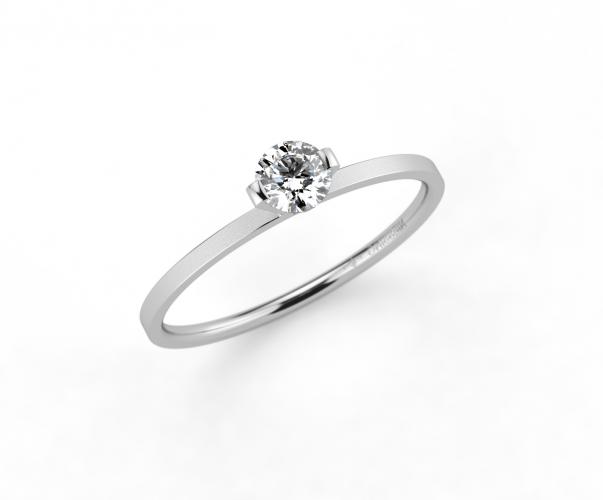 Niessing Schmuckring Verlobungsring Princess Platinum Velvet N301960